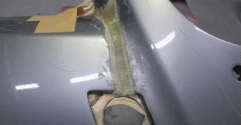 亀裂部の修理