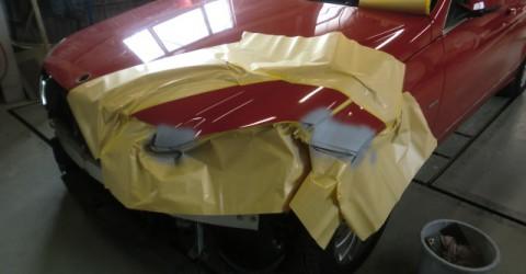 損傷部位サフェーサー塗布