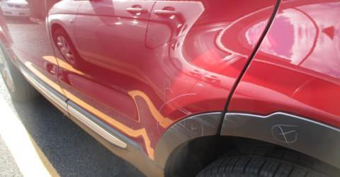 損傷確認。