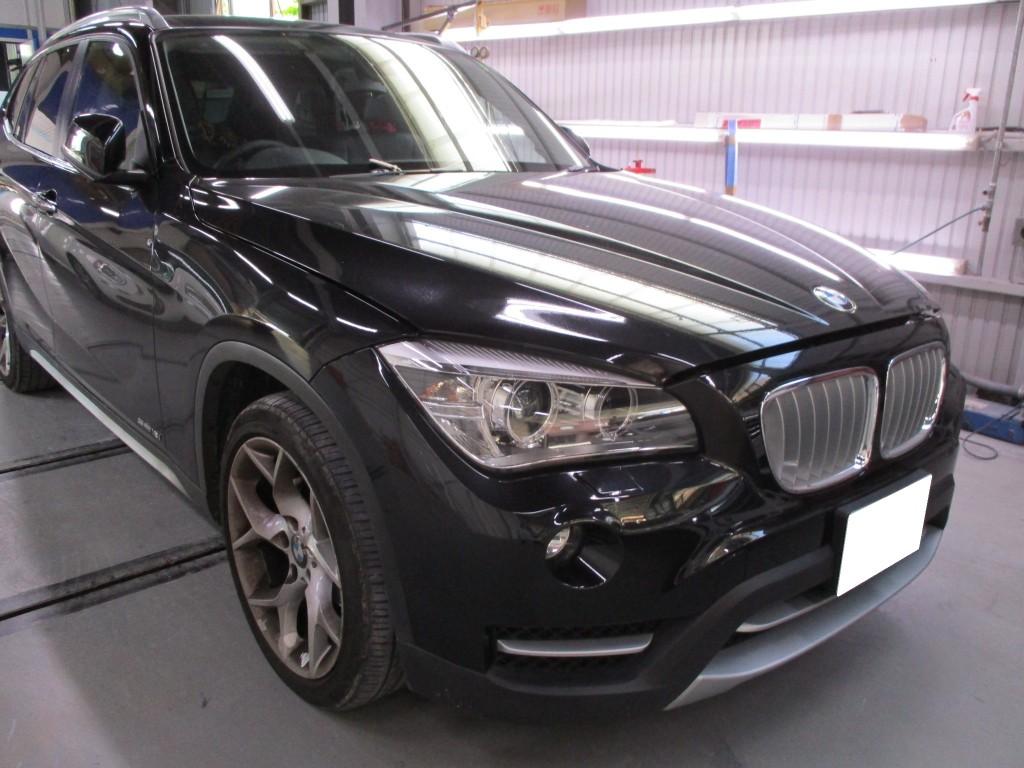 【世田谷区】BMW X1 左リアドア キズへこみ修理