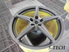 フェラーリ,458,スパイダー,ホイール,色替え,塗装,エステック