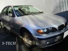 BMW,3シリーズ,318i,右フロントドア,右リアドア,右クオータパネル,板金,塗装,エステック