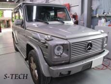 メルセデスベンツ,ゲレンデ,G500,右フロントサイドカバー,修理,塗装,エステック