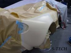ロータス,エリーゼ,右クオータパネル,リアバンパ,FRP,修理,塗装,事例,エステック