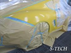 ポルシェ,ケイマン,987,右クオータパネル,ダクト,板金,塗装,修理,エステック