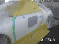 ポルシェ,カレラ,911,997,左ドア,凹み,板金,塗装,修理,エステック