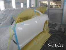 ニッサン,GT-R,R35,左ドア,キズ,修理,塗装,エステック