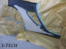 ポルシェ,911,997,カレラ,右ドア,右クオータパネル,板金,塗装,修理,エステック