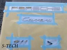 ポルシェ,カレラ,911,997,エンブレム,塗装,カスタム,エステック