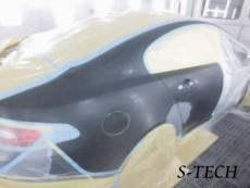 ジャガー,XF,右リアドア,右クオータパネル,板金,塗装,修理,エステック