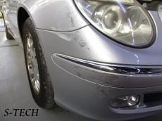 メルセデスベンツ,Eクラス,W211,フロントバンパー,右フロントフェンダー,キズ,凹み,板金,塗装,修理,エステック