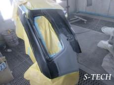 アウディ,S4,フロントバンパー,左フロントフェンダー,ヘッドライト,キズ,凹み,板金,塗装,修理,エステック