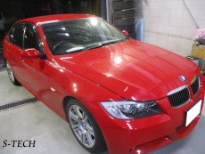 BMW,323i,M3,E90,右ドアミラー,キズ,修理,塗装,エステック