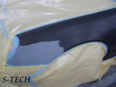 メルセデスベンツ,Sクラス,W220,左フロントフェンダー,キズ,凹み,板金,塗装,修理,エステック