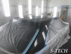 メルセデスベンツ,560SEC,W126,Sクラス,ルーフ,塗装,経年劣化,修理,エステック