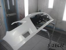 ニッサン,スカイライン,クーペ,GTR,フロントバンパー,スポイラー,右フロントフェンダー,キズ,割れ,凹み,板金,塗装,修理,エステック