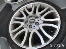 BMW,MINI,クーパーS,コンバーチブル,ホイール,キズ,修理,塗装,エステック