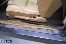オーテックザカート,ステルビオ,左サイドステップ,錆び,板金,修理,塗装,エステック