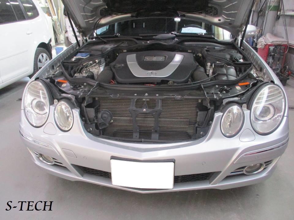【世田谷区】メルセデスベンツ Eクラス W211 左フロントフェンダー キズ 板金塗装