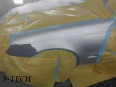 メルセデスベンツ,Eクラス,W211,左フロントフェンダー,キズ,板金,塗装,修理,エステック