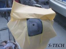 ジャガー,XJ,フロントバンパー,センサー,キズ,修理,塗装,エステック