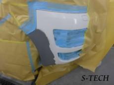 フォルクスワーゲン,T5,カリフォルニア,フロントバンパー,キズ,変形,修理,塗装,エステック