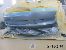 アストンマーティン,DB9,オープン,フロントバンパー,キズ,修理,塗装,エステック