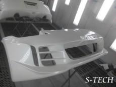 ニッサン,フェアレディZ,Z34,フロントバンパー,左右サイドスポイラー,リアバンパー,リアスポイラー,塗り分け,塗装,カスタム,エステック