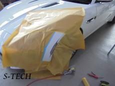 ジャガー,Fタイプ,フロントバンパー,キズ,修理,塗装,エステック