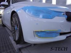BMW,328i,F30,フロントバンパー,修理,塗装,エステック