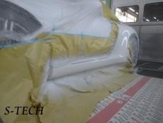 ポルシェ,911,991,カレラ,左クオータパネル,傷,凹み,板金,塗装,修理,エステック