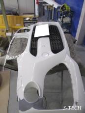 BMW,X4,F26,フロントバンパー,フロントバンパースポイラー.キズ,凹み,変形,修理,塗装,エステック