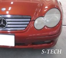 メルセデスベンツ,Cクラス,W203,ヘッドライト,黄ばみ,劣化,塗装,修理,エステック