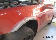 メルセデスベンツ,Cクラス,W203,フロントバンパー,左フロントフェンダー,キズ,凹み,板金,塗装,修理,エステック