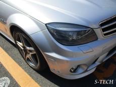 メルセデスベンツ,C63,AMG,W204,フロントバンパー,キズ,修理,塗装,エステック