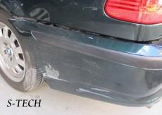 BMW,320i,E46,リアバンパー,キズ,変形,修理,塗装,エステック