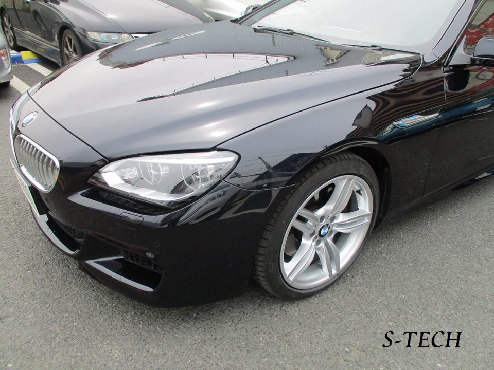 【調布市】BMW 650i F06 リアバンパー 擦り傷 修理塗装