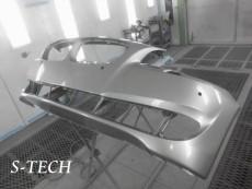 BMW,523d,F11,フロントバンパー,フロントフォグランプ,破損,キズ,凹み,割れ,パーツ,交換,修理,塗装,エステック
