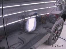 ジャガー,F-PACE,左リアドア,キズ,凹み,板金,塗装,修理,エステック