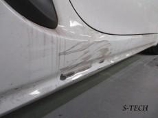 ポルシェ,ボクスター,718,右サイドステップ,キズ,修理,塗装,エステック