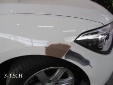 BMW,1シリーズ,118i,フロントバンパー,右フロントバンパー,キズ,凹み,板金,塗装,修理,エステック