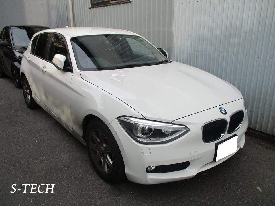 【品川区】BMW 118i 1シリーズ F20 フロントバンパー・右フロントフェンダー キズ凹み 板金塗装