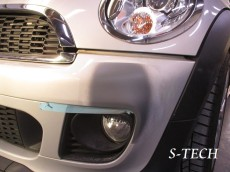 BMW,MINI,クーパーS,フロントバンパー,キズ,修理,塗装,エステック