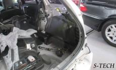 ボルボ,V60,リアバンパー,右クオータパネル,右テールランプ,キズ,ヘコミ,大破,板金,塗装,修理,新品,パーツ,交換,エステック