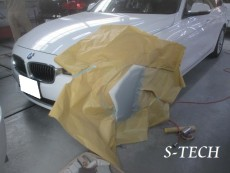 BMW,320d,F31,フロントバンパー,キズ,修理,塗装,エステック