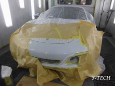 ポルシェ,911,カレラ,フロントバンパー,キズ,修理,塗装,エステック