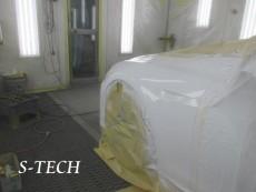 テスラ,モデルS,フロントバンパー,左フロントフェンダー,キズ,凹み,板金,修理,塗装,エステック