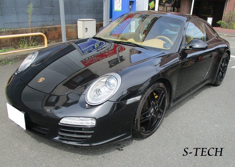 【目黒区】ポルシェ 911 カレラ 997 フロントバンパー キズ 修理塗装