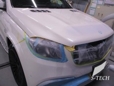 メルセデスベンツ,GLS63,AMG,ボンネット,キズ,板金,修理,塗装,エステック