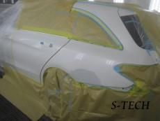 メルセデスベンツ,C200,W205,左クオータパネル,リアバンパー,キズ,凹み,板金,塗装,修理,エステック